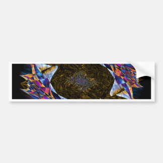 Digital Smoke Art Bumper Stickers
