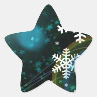 Digital Snowflake Nature Winter Peace Love Destiny Star Sticker
