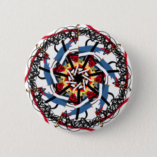 Digital spin 6 cm round badge