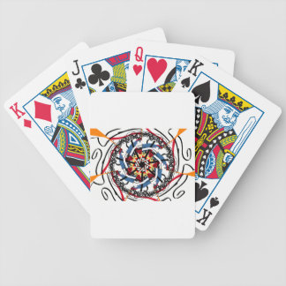 Digital spin bicycle playing cards