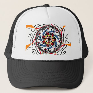 Digital spin trucker hat