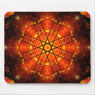 Digital Star Mandala Mouse Pad