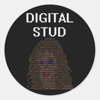 Digital Stud Classic Round Sticker