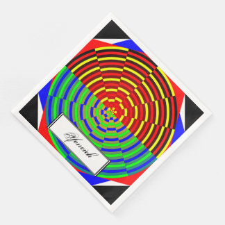 Digital Sunset by Kenneth Yoncich Paper Napkins
