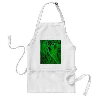 digital surprise fluid green adult apron