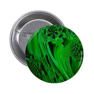 digital surprise fluid green pinback buttons
