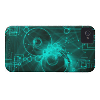 digital techno abstract art Case-Mate iPhone 4 case