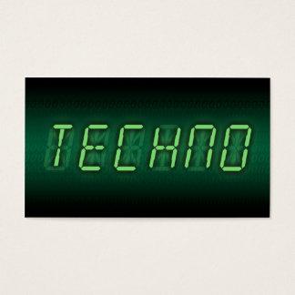 digital techno business card