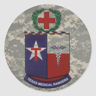 digital, texas medical Rangers no blue Classic Round Sticker