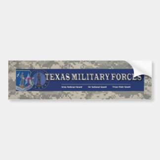 digital, texas military forces bumper sticker
