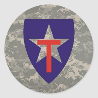 digital, TXSG star-round decal Classic Round Sticker