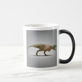 Digital Tyrannosaurus Rex Polygonal Abstract Art Magic Mug