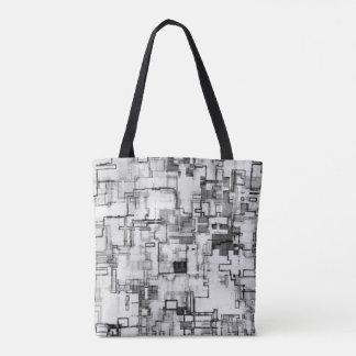 Digital Urban Circuit Design Tote Bag