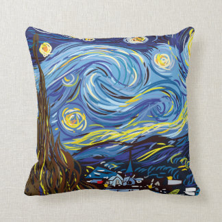 Digital Van Gogh Throw Pillow