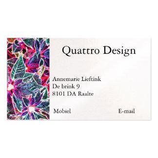 Digital visiting card pack of standard business cards