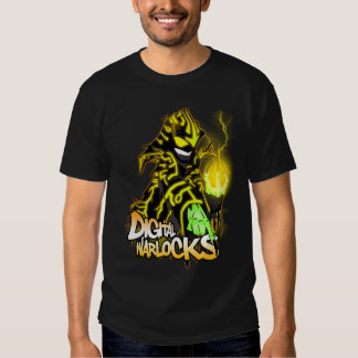 Digital Warlocks Yellow Warlock - Basic Dark T-Shi T Shirt