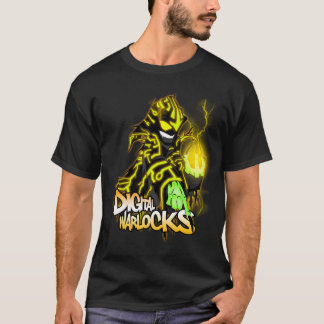 Digital Warlocks Yellow Warlock - Basic Dark T-Shi T-Shirt