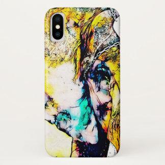 Digital Watercolor African Elephant Closeup iPhone X Case