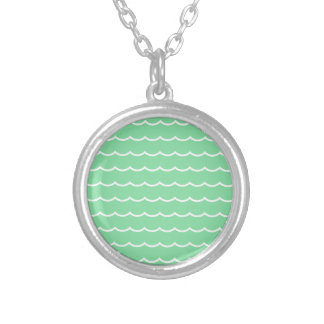 digital waves scrapbooking and fun paper silver plated necklace