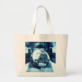 Digital World and Technology Lifestyle Industry Large Tote Bag