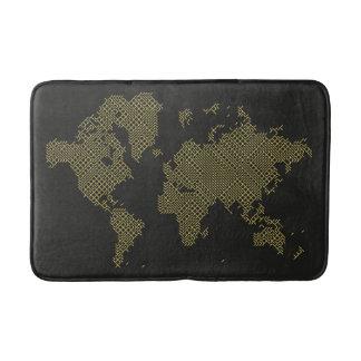 Digital World Map Bath Mats