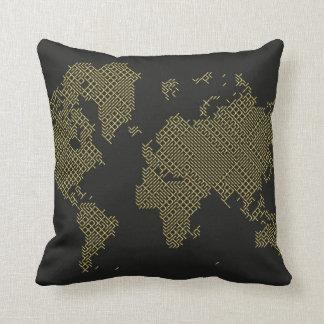 Digital World Map Cushion