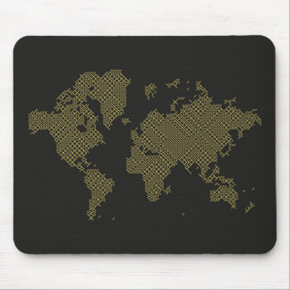 Digital World Map Mouse Pad