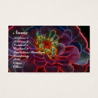 Digital Zinnia Flower Business Card