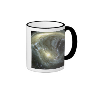 Digitally altered galaxy ringer mug