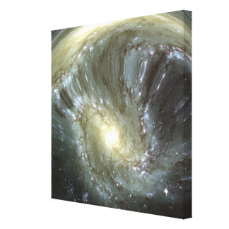 Digitally altered galaxy stretched canvas print