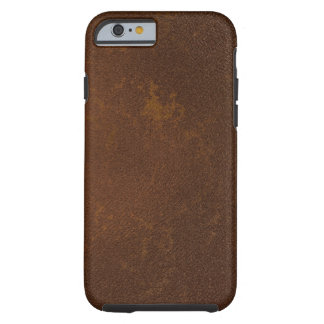 Digitally Created Distressed Leather Texture Tough iPhone 6 Case
