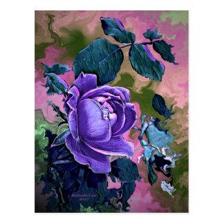Digitally Created Postcard by Artful Oasis - Rose