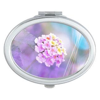 Digitally Enhanced Flower Compact Mirror