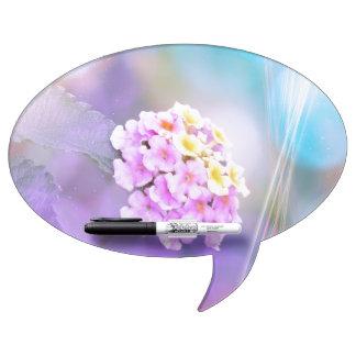 Digitally Enhanced Flower Dry-Erase Boards