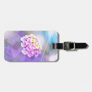 Digitally Enhanced Flower Tag For Luggage