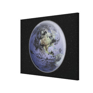 Digitally enhanced image of the Full Earth Canvas Print