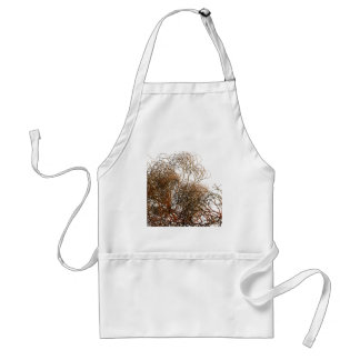Digitally painted colourful winter branches illust standard apron