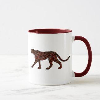 Digitally Painted Leopard Art Mug