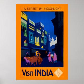 Digitally Remastered Vintage India Travel Poster
