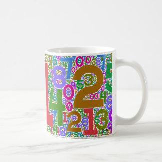 digits interdigitated coffee mug