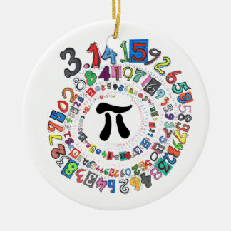 Digits of Pi Form a Colorful Spiral Ceramic Ornament
