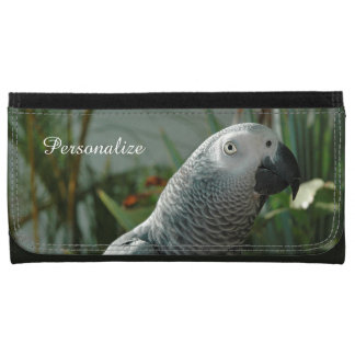 Dignified African Grey Parrot Leather Wallets
