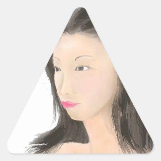 Dignified [japanese kanji] triangle sticker