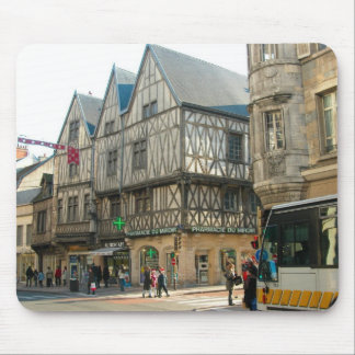 Dijon, Burgundy, France Medieval building Mouse Pad