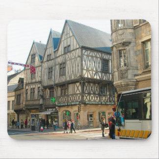 Dijon, Burgundy, France Medieval building Mouse Pad