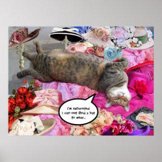 Dilemma of Princess Tatus Cat Poster