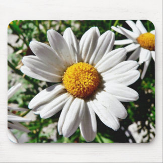 Dill Daisy White Mouse Pad