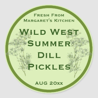 Dill Flower and Leaves Pickling Label
