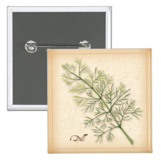 Dill Herb, Dill Weed 15 Cm Square Badge