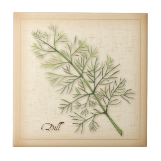 Dill Herb, Dill Weed Tile